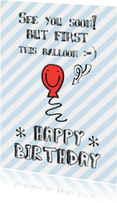 Verjaardagskaart ballon happy