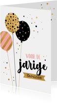 Verjaardagskaart ballon patroon