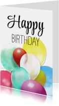 Verjaardagskaart Ballonnen Happy Birthday