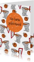 Verjaardagskaart basketbal