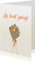 Verjaardagskaart - bloemetje voor jou