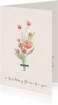Verjaardagskaart boeket