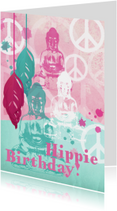 Verjaardagskaart buddha bohemian stijl