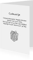 Verjaardagskaart Cadeautje - Gedicht