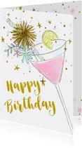 Verjaardagskaart cocktail hip vrouw