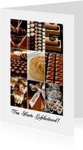 Verjaardagskaart collage chocolade