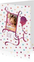 Verjaardagskaart confetti foto