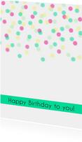 Verjaardagskaart Confetti - WW