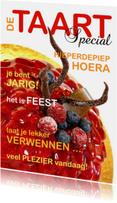 Verjaardagskaarten - Verjaardagskaart Cover Rode Taart - OT