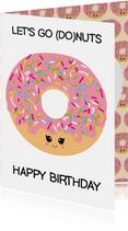 Verjaardagskaart donuts