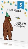 Verjaardagskaart felicitatie kind jongen beer