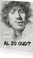 Verjaardagskaart felicitatie Rembrandt van Rijn