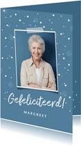 verjaardagskaart felicitatie volwassen senior confetti foto