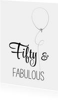 Verjaardagskaart Fifty zww