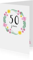 Verjaardagskaart Flower, leeftijd aanpasbaar