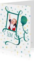 Verjaardagskaarten - Verjaardagskaart foto stippen