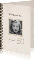 Verjaardagskaart fotoboek 'kleine meisjes worden groot'