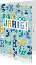 Verjaardagskaart game controller