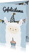 Verjaardagskaart gefelicilama
