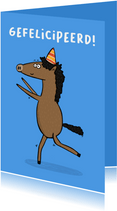 Verjaardagskaart gefelicipeerd met de krul steert...