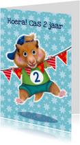 verjaardagskaart hamster jongen 2 jaar