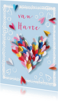 Verjaardagskaarten - Verjaardagskaart hart hartjes