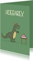 Verjaardagskaart Hoerarex Taart!