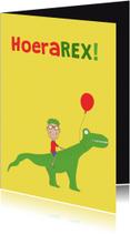 Verjaardagskaarten - Verjaardagskaart HoeraRex!