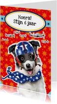 verjaardagskaart hond piloot