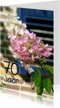 Verjaardagskaart Hortensia 70 jaar