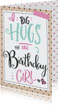 Verjaardagskaart Hugs