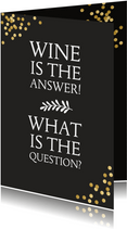 Verjaardagskaart humor met wijn