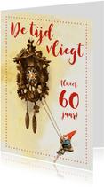 Verjaardagskaart Kabouter De tijd Vliegt met leeftijd