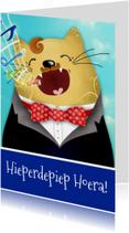 Verjaardagskaart kat operazanger