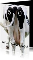 Verjaardagskaart koe