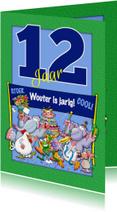 Verjaardagskaart leuk, 12 jaar aanpasbaar