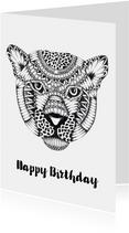 Verjaardagskaart Luipaard