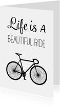 Verjaardagskaart man fiets - SG