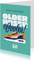 Verjaardagskaart man sneakers sport happy birthday