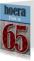 Verjaardagskaart man stoer 65