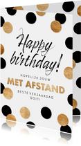 Verjaardagskaart Met afstand beste verjaardag