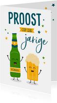 Verjaardagskaart met bier