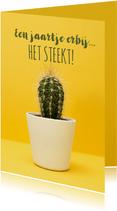 Verjaardagskaart met een 'steekje' humor