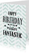Verjaardagskaart Mister Fantastic