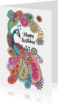 Verjaardagskaart Paisley Pauw
