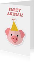Verjaardagskaart partyanimal ME