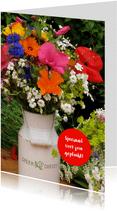 Verjaardagskaart Boetket Bloemen Pluktuin