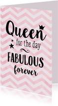 Verjaardagskaart Queen