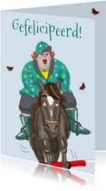 Verjaardagskaart Ruiter met paard