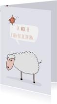 Verjaardagskaart schaapje wol...